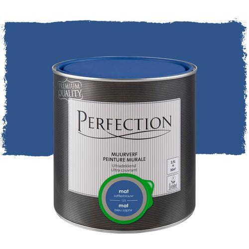 Perfection ultradekkende muurverf Saffierblauw mat 2,5L