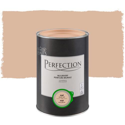 Perfection ultradekkende muurverf Perzikroze mat 1L