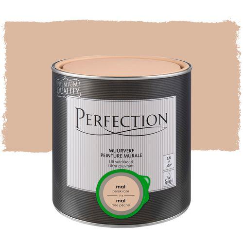 Perfection ultradekkende muurverf Perzikroze mat 2,5L