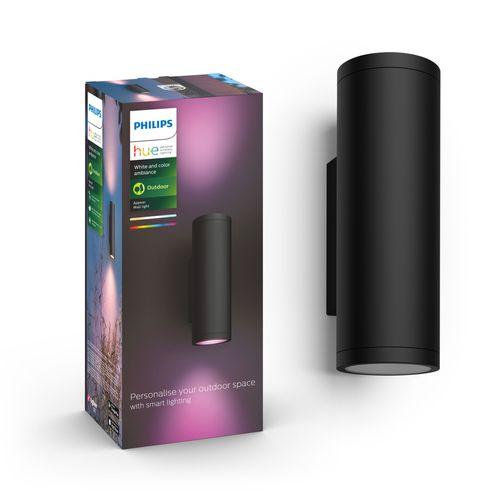 Philips Hue Outdoor wandverlichting LED Appear zwart 8W