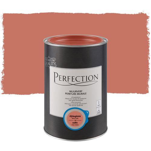 Perfection muurverf ultradekkend zijdeglans terra roze 1L