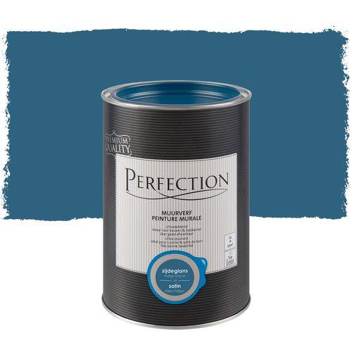 Peinture murale Perfection ultra couvrante bleu indigo satin 1L