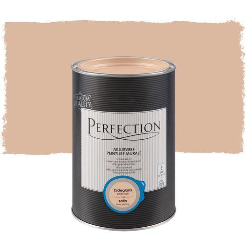 Perfection muurverf ultradekkend zijdeglans perzik roze 1L