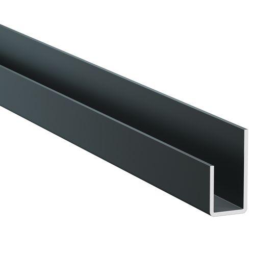 Profil d'arrêt latéral James Hardie à joint ouvert aluminium Midnight Black 3m