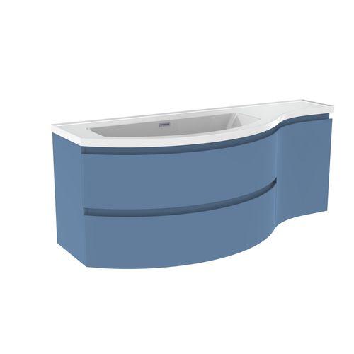 Wastafelonderbouw ALLIBERT VERSO  130 cm -Mat Baltisch Blauw