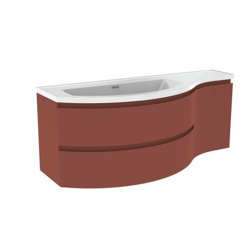 Wastafelonderbouw ALLIBERT VERSO  130 cm - Terracotta
