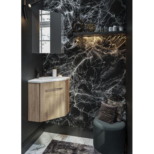 Meuble lave-mains Allibert Corner chêne Hamilton 58cm