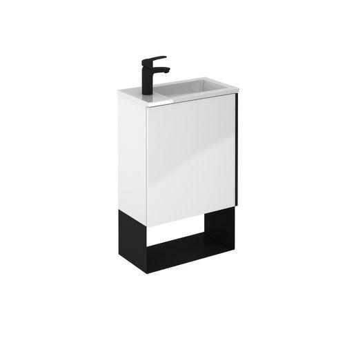 Set meuble lave-mains Royo Indus 1 porte blanc