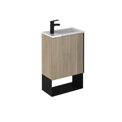Set meuble lave-mains Royo Indus 1 porte bois bouleau