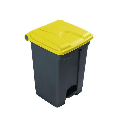 Engels Afvalbak grijs geel 45L