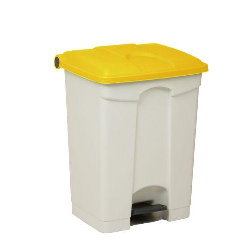 Engels poubelle 70L jaune blanc