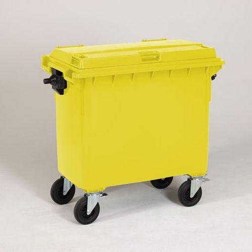 Engels conteneur poubelle jaune 660L