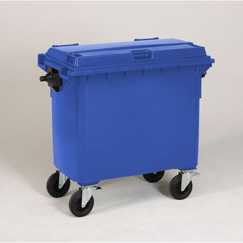 Engels conteneur poubelle bleu 660L