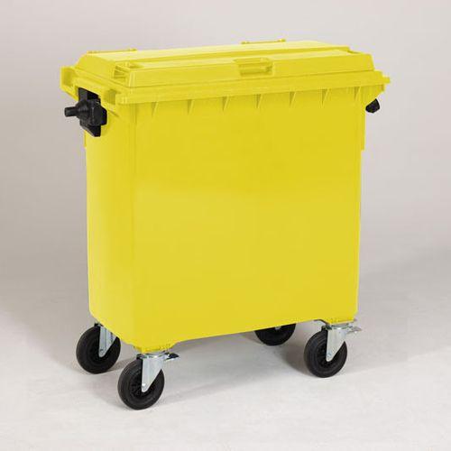 Engels conteneur poubelle jaune 770L