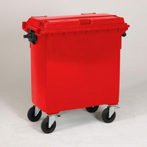 Engels conteneur poubelle rouge 770L