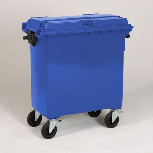 Engels conteneur poubelle bleu 770L