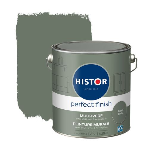 Histor muurverf Perfect Finish mat Dried Holly 2,5L