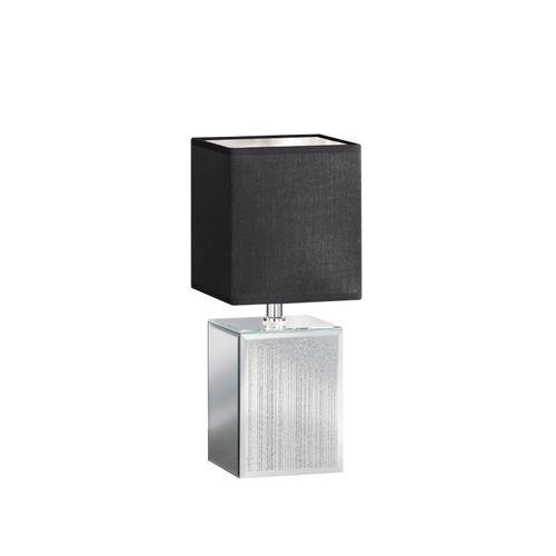 Fischer & Honsel tafellamp Bert E14 zilverkleurig