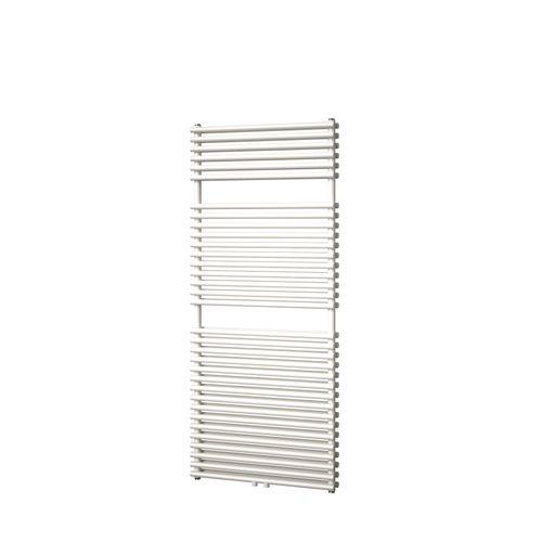 Plieger designradiator Florian NxT M dubbel horizontaal met middenaansluiting 1406x500mm 980W wit structuur