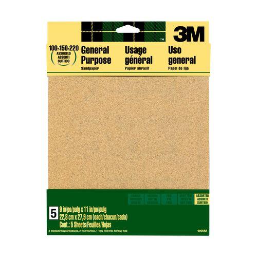 3M™ schuurpapier aluminiumoxide assortiment korrels 9000NA 22,8x27,9cm 5st/pak
