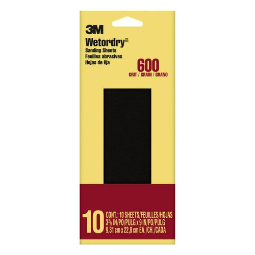 3M™ schuurpapier Imperial Wetordry korrel 600 592118CC 9,29x22,8cm 10 vellen/pak
