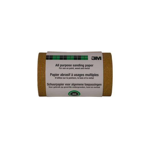 3M™ schuurrol algemeen gebruik korrelP80 911550CL080 115mmx5m