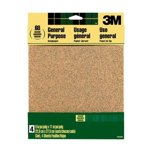 3M™ schuurpapier aluminiumoxide grof korrel 60 9003NA 22,9cmx27,9cm 4st/pak