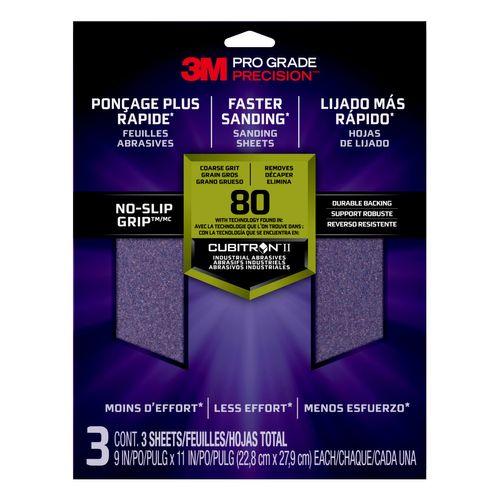 3M™ schuurvellen Pro-Grade Precision™ korrel80 26080TRI20BNL 22,8x27,9cm 3st/pak