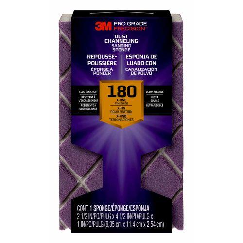 3M™ blokschuurspons Pro Grade Precision™ met stofkanalen korrel 180 fijn 2503TRI180BNL 11,4x6,35x2,5cm 12st/pak