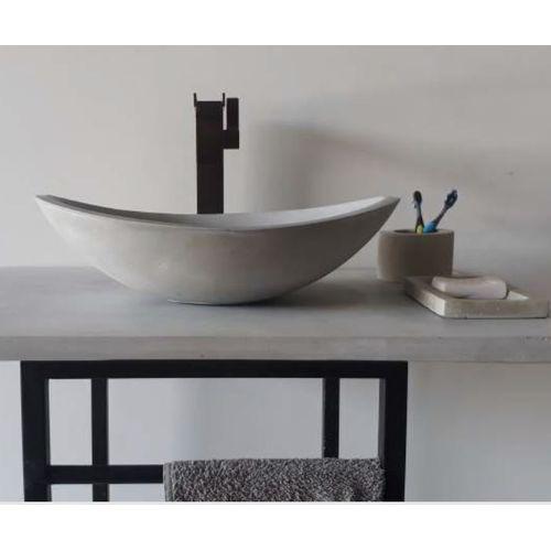 Vasque ovale Allibert Eliz béton gris mat 45cm