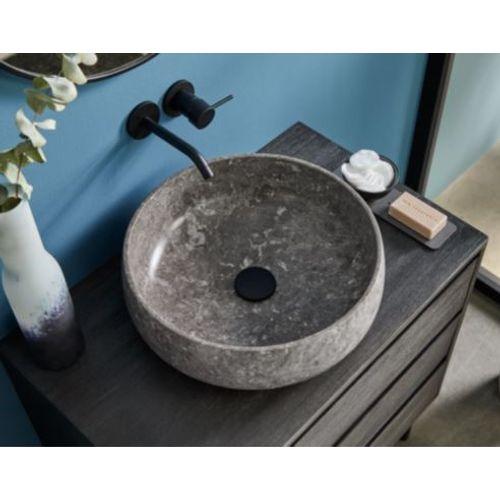 Vasque ronde Allibert Ergo marbre grise 42cm