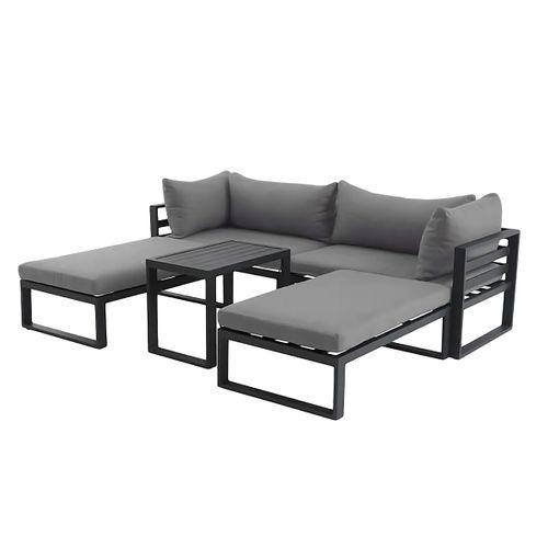 Creador loungeset Modulo grijs aluminium