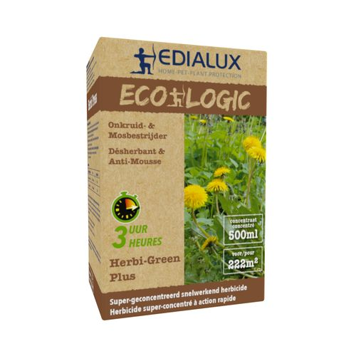 Désherbant et anti-mousse Edialux Herbi-Green Plus 500ml 222m²