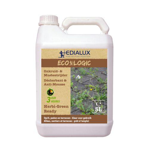 Désherbant & anti-mousse Edialux Herbi-Green Ready  5L