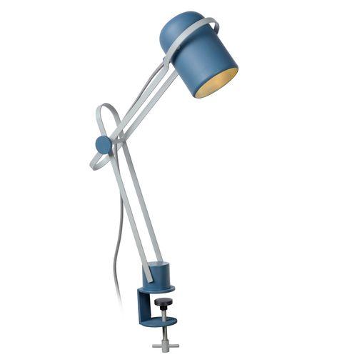 Lampe à pince chambres d'enfant Lucide Bastin bleu E14