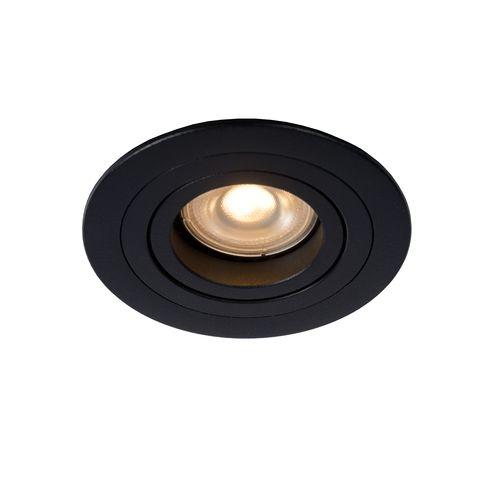 Lucide inbouwspot Tube zwart GU10