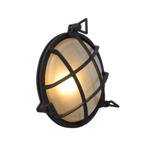 Lucide wandverlichting Dudley zwart E27