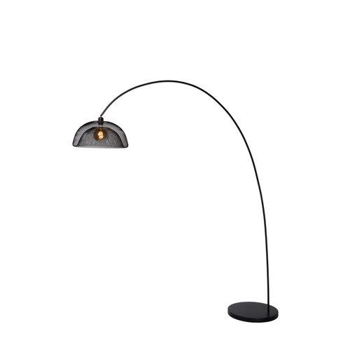 Lucide vloerlamp Mesh zwart E27