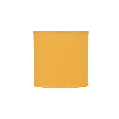 Abat-jour Corep coton toiline moutarde Ø20cm