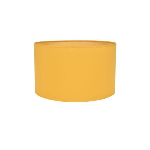 Abat-jour Corep coton toiline moutarde Ø30cm