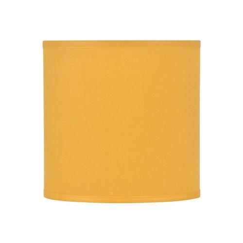 Abat-jour Corep coton toiline moutarde Ø35cm