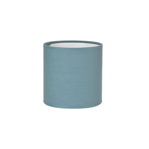 Abat-jour Corep coton toiline petrole Ø20cm