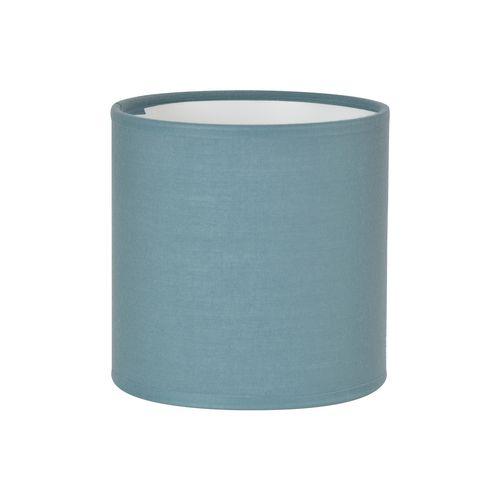 Abat-jour Corep coton toiline petrole Ø30cm