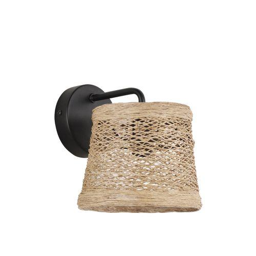 Corep wandlamp Nude gevlochten draad E14