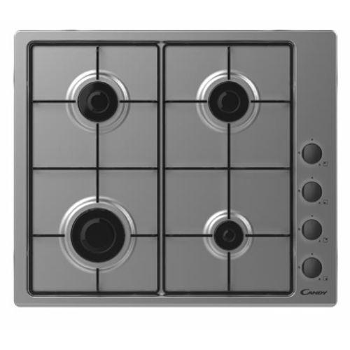 Table de cuisson au gaz Candy CHW6LBX 60cm Inox