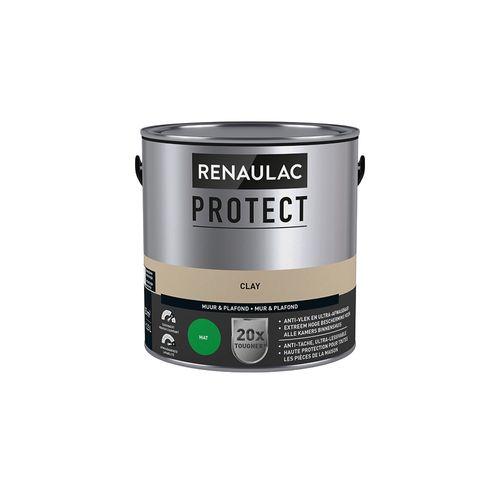 Muur- en plafondverf Renaulac Protect ultra dekkend clay mat 2,5L