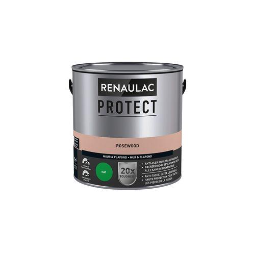 Muur- en plafondverf Renaulac Protect ultra dekkend aqurosewooda mat 2,5L