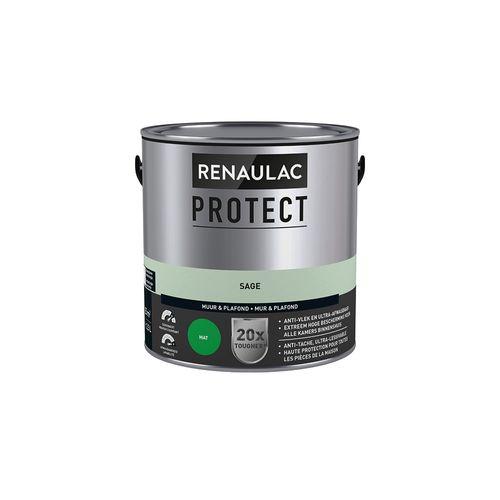 Muur- en plafondverf Renaulac Protect ultra dekkend sage mat 2,5L