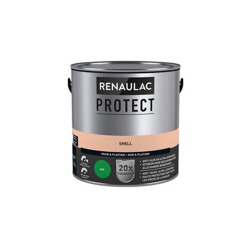 Muur- en plafondverf Renaulac Protect ultra dekkend shell mat 2,5L