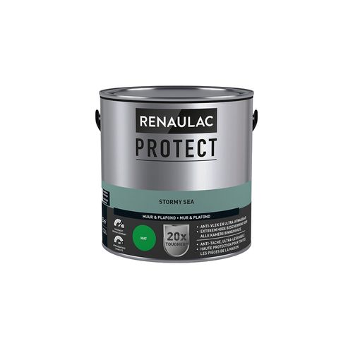Peinture mur et plafond Renaulac Protect ultra couvrante stormy sea mat 2,5L
